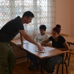 Nikola working with the kids at the FTM music school in Shutka